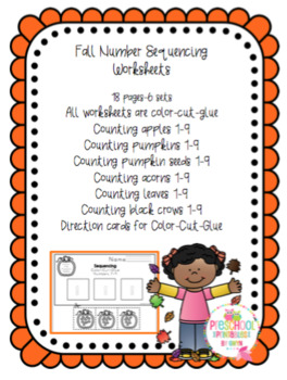 Fall Number Sequencing Worksheets