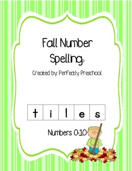 Fall Number Spelling Tiles
