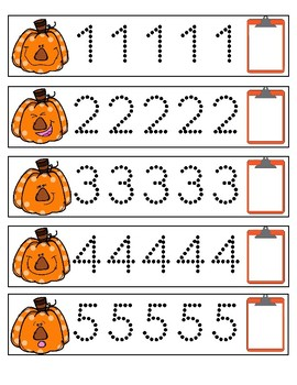 Fall Number Trace 1-9