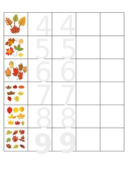 Fall Number Tracing 0-9