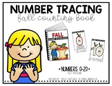 Fall Number Tracing Book