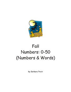 Fall Numbers Matching Game: 0-50 (Numbers & Words) eBook