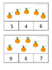 Fall Numbers 1-10 Clip Cards