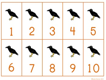 Fall Numbers 1-10: Counting and Numeral Recognition
