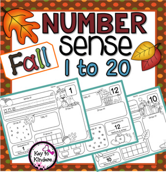Number Sense 1-20 for Fall NO PREP