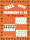 Fall Numbers 11-20 Clip Cards