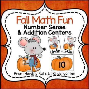 Fall Math Centers for Number Sense and Addition