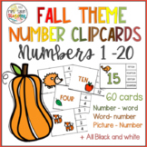 Fall Numbers Clip Cards 1 - 20.