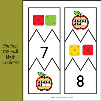 Fall Number Puzzles: Number Identification Subitizing Practice 1-10
