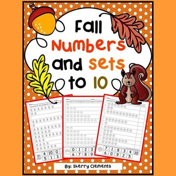 Fall Numbers and Sets to 10 (cut and paste)