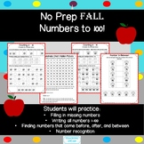Fall Numbers to 100