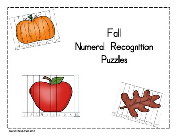 Fall Numeral Recognition Puzzles