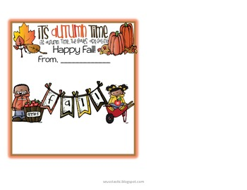 Fall-O-Ween Student & Co-Worker Gifts (Candy Bar Wrappers)