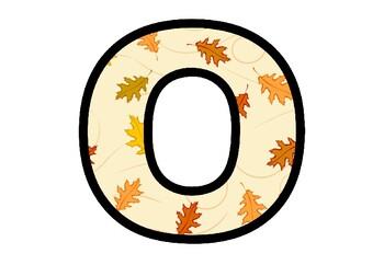 Fall, Oak Leaves, Bulletin Board Letters, Classroom Decor, Oak Letters