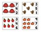 Fall Objects Count and Clip Preschool Cards