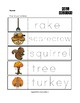 Fall Objects Trace the Words Worksheets
