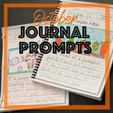 Fall October Journal Prompts for Daily Writing centers Handwriting Without Tears