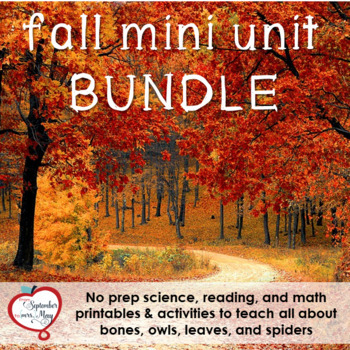 Fall / October NO PREP Mini Unit Bundle