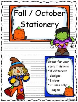 Fall / October Stationery