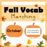 Fall Vocabulary Matching