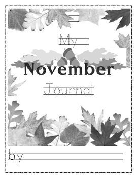 Fall October and November writing Journal