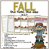 Fall One More, One Less: An Addition Math Center / Activity