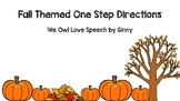 Fall One-Step Directions