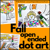 Fall Open Ended Dot Art