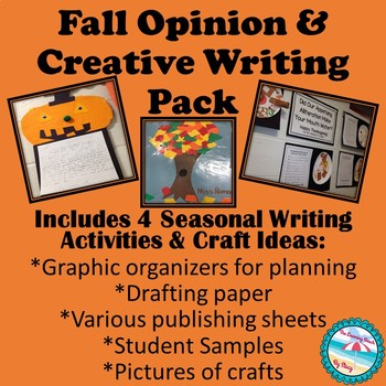 Fall Opinion & Descriptive/Creative Writing Pack {With Craft Ideas & Pictures}