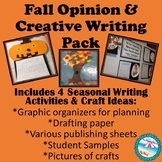 Fall Opinion & Descriptive/Creative Writing Pack {With Cra