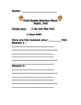 Fall Opinion Piece Writing