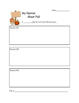 Fall Opinion Writing