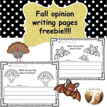 Fall Opinion Writing Pages FREEBIE!