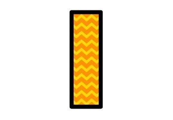 Fall, Orange Chevron Letters, Bulletin Board Letters, Classroom Decor Alphabet