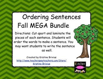 Fall Ordering Sentences