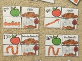 Fall Ordinal Match Cards (1st - 20th) Ordinal Numbers, Wor
