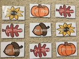 Fall Ordinal Match Cards (1st - 20th) Ordinal Numbers and Words
