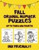 Fall Ordinal Number Puzzles