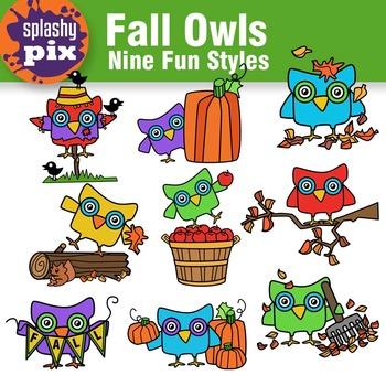 Fall Owls Clipart