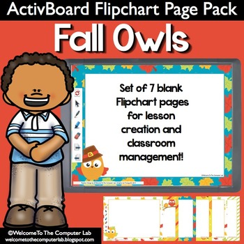 Fall Owls ActivBoard Flipchart Page Pack