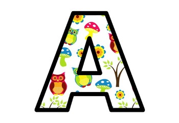 Fall, Owls, Bulletin Board Letters, Classroom Decor, Autumn Owl Alphabet Posters