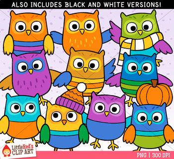 Fall Owls Clip Art