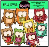 Fall Owls Clip Art Bundle {Educlips Clipart}