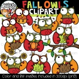 Fall Owls Clipart {Fall Clipart}