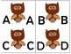 Fall Owls/Uppercase to lowercase match puzzles