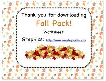 Fall Pack!