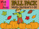 Fall Pack - Math (numbers 1-30)