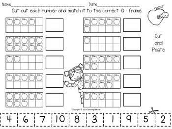 Fall Pack No Prep Literacy and Math Printables