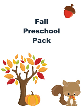 Fall Pack for Preschoolers