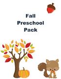 Fall Pack for Preschoolers